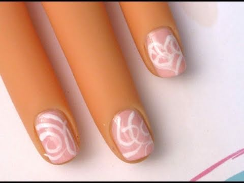 Valentines Scroll - nail art tutorial for short nails