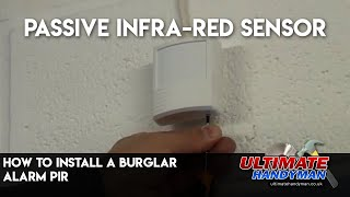 How to wire a Burglar Alarm PIR detector