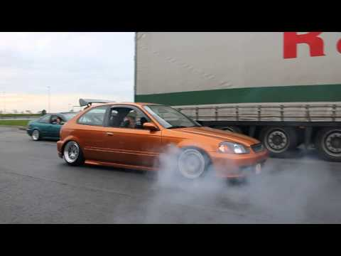 Honda Civic ej9 Burnout