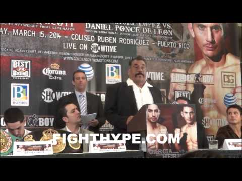 FULL DANNY GARCIA VS. MAURICIO HERRERA PRESS CONFERENCE [IN SPANISH]