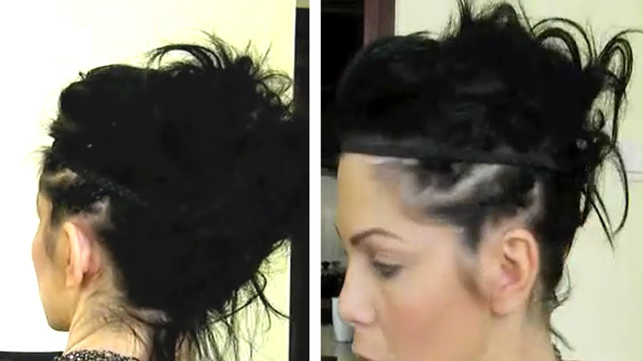 Tuto coiffure tendance cheveux courts - YouTube
