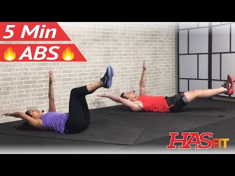5 Minute Abs Workout for Women & Men at Home No Equipment - 5 Min Ab Workout – Abdominal Exercises