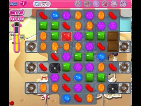 How to beat Candy Crush Saga Level 170 - 3 Stars - No Boosters - 265