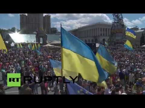Ukraine: Maidan protesters demand end of ceasefire in Eastern Ukraine