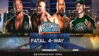 WWE'13 L The Rock Vs Stone Cold Vs Brock Lesnar Vs John