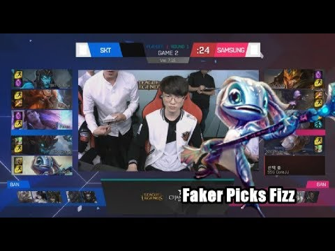 [GG] SKT (Faker Fizz) VS SSG (Crown Taliyah) Game 2 - Highlights - 2017 LCK Playoffs Round 2