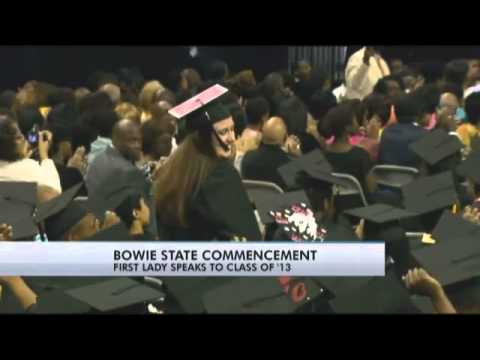 Michelle Obama speaks at Bowie State