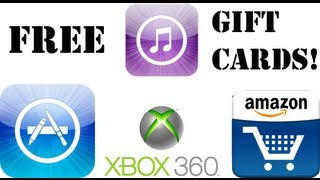 How To Get FREE Apps & Gift Cards Amazon, XBOX, ITunes