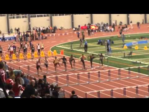 3-7-14 IWU Men's 60 Meter Hurdle Semi Fianl NAIA Indoor National Championship
