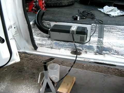 Webasto Air Top 2000 diesel heater running in Hal The Van