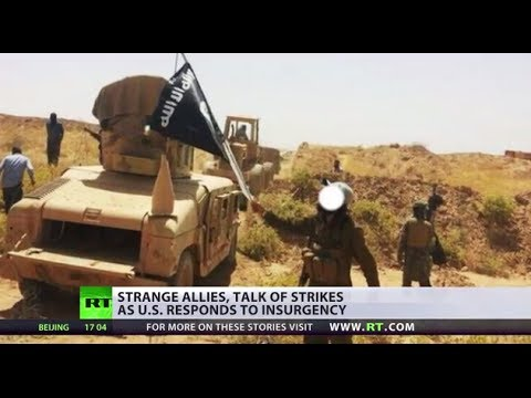 Strange allies, talk of strikes: US ponders response to Iraq insurgency