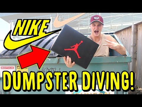 DUMPSTER DIVING NEW NIKE OUTLET. RARE RETRO JORDANS FOUND!!! AND SNEAKER SHOPPING