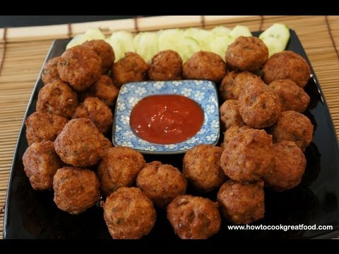 Asian Chicken Meatballs with Wasabi recipe how to cook great food
