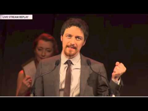 James McAvoy wins Best Actor for Filth at the 2013 BIFA Awards