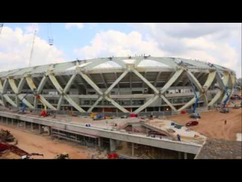 brazil World Cup 2014  England's opening match stadium far from completion