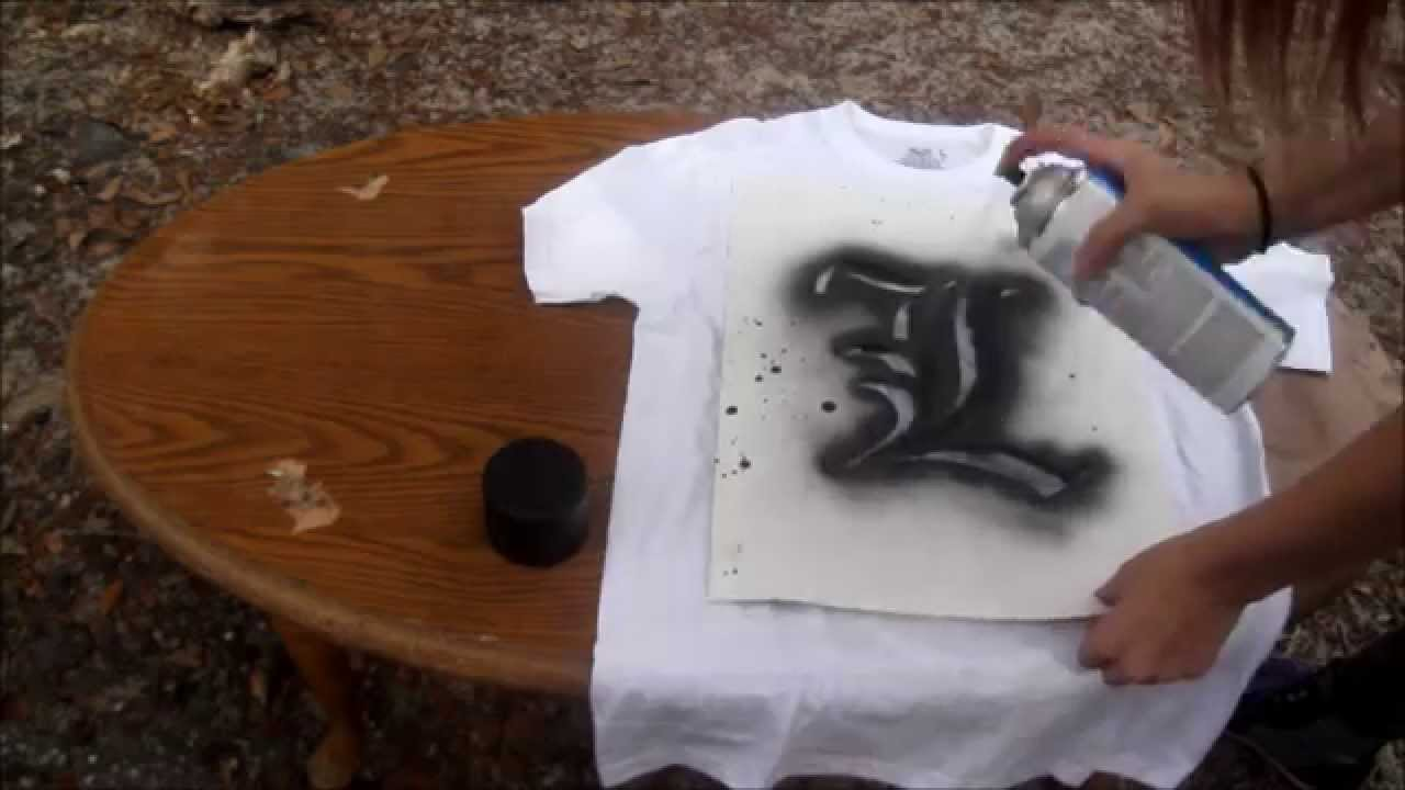 bleaching and spray painting shirts youtube. Black Bedroom Furniture Sets. Home Design Ideas