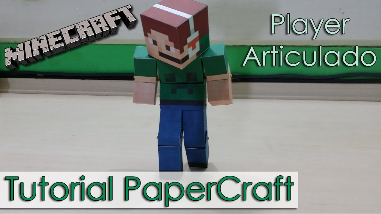 how to make a paper minecraft player