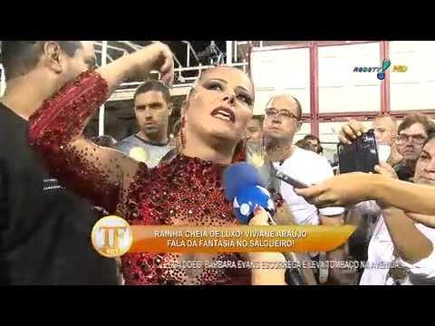 Viviane Araujo no ensaio técnico do Salgueiro 09/02/14