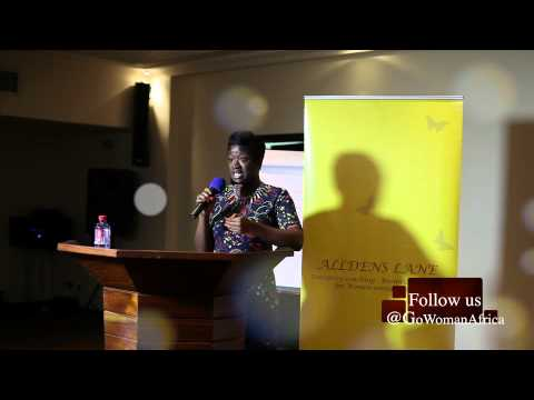 Yvette Ansah at Alldens Lane Women Mean Business Ghana