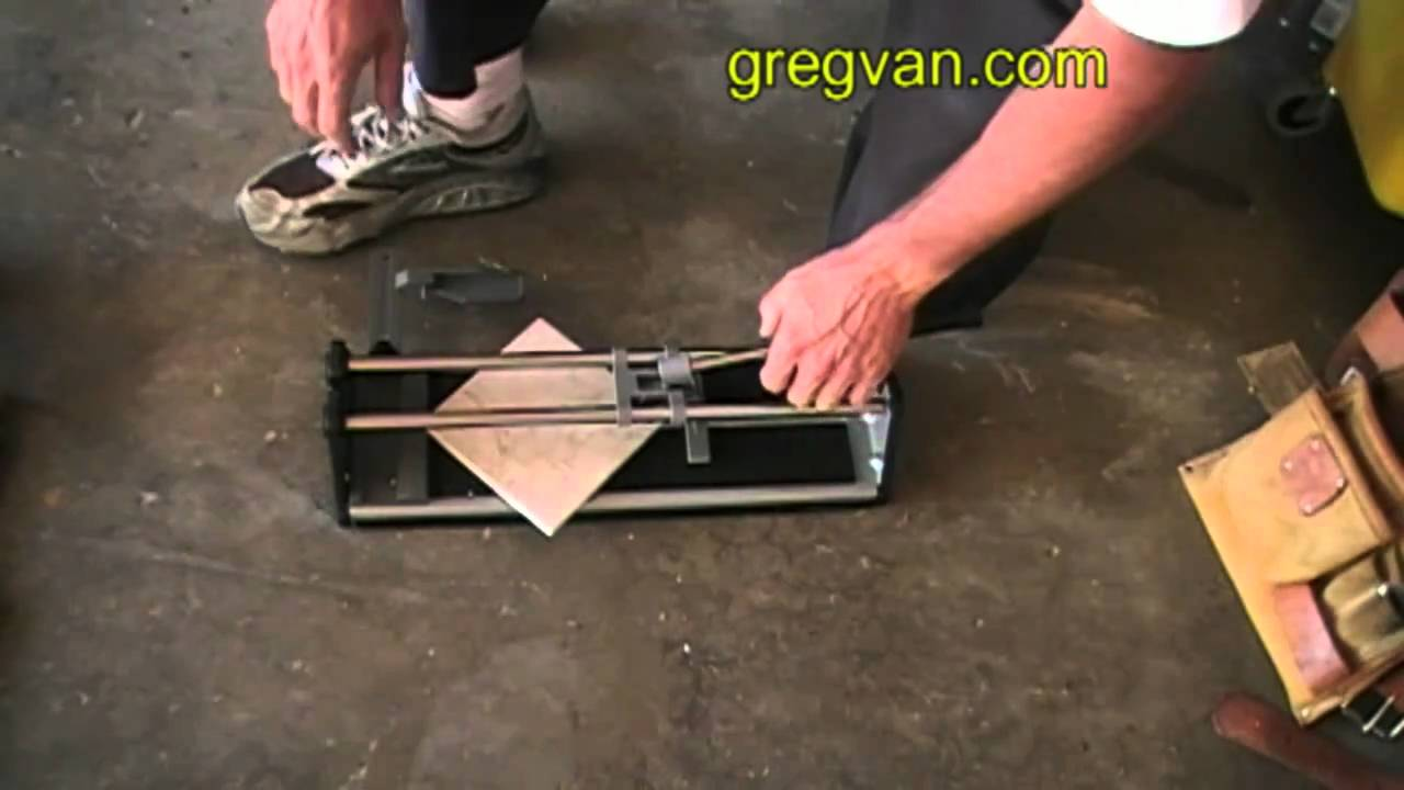How To Cut Diagonal Ceramic Floor Tiles YouTube