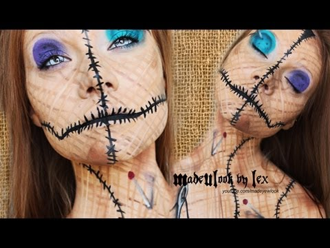 Voodoo Doll Makeup Tutorial (Original) Halloween Makeup Tutorial 2013