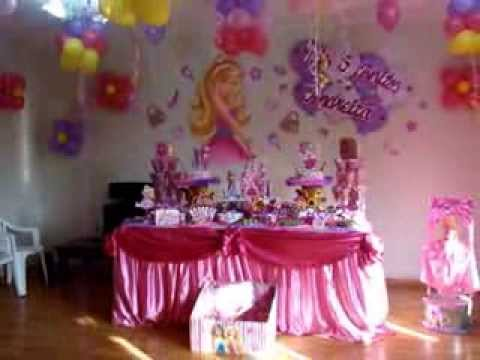 Decoracion barbie de fantasy decoraciones y mas youtube - Fiestas de cumpleanos de princesas ...