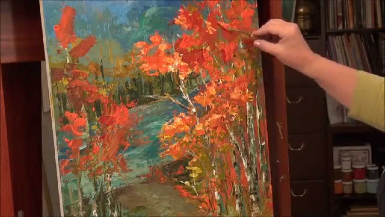 palette knife painting acrylic painting technique youtube