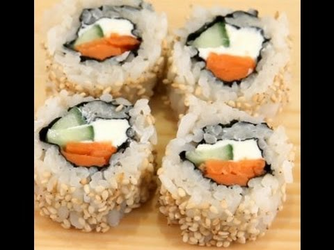 How To Make Sushi - Philadelphia Rolls