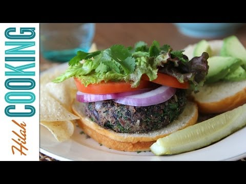 Black Bean Veggie Burgers |  Hilah Cooking