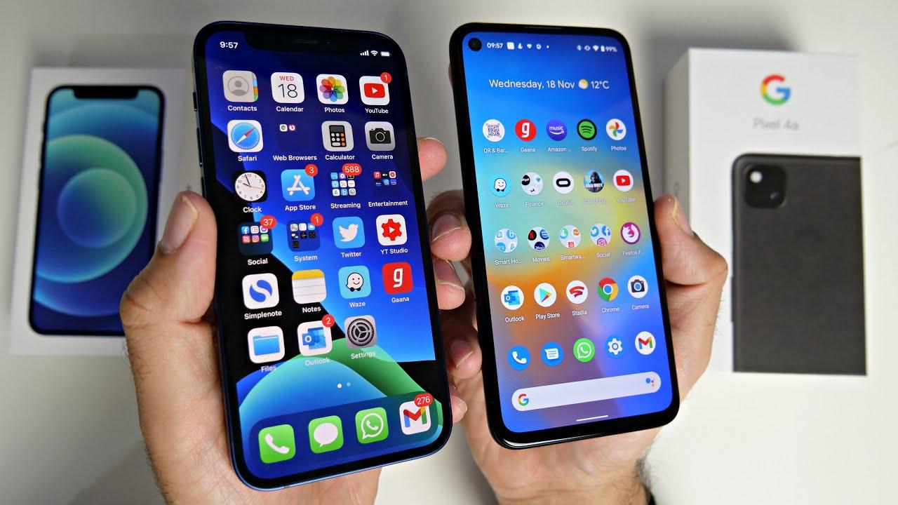 iPhone 12 Mini vs Pixel 4a Ultimate Comparison - Budget vs Flagship!