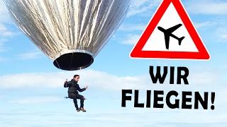 WIR FLIEGEN!   unser selbstgebauter Ballon DIY #2