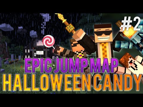 Epic Jump Map: Halloween Candy ep2 w/ SkyDoesMinecraft, Deadlox and MinecraftUniverse