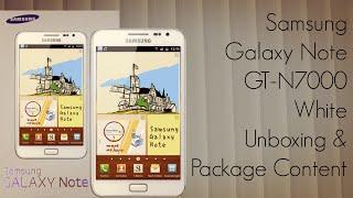 Samsung Galaxy Note GT-N7000 kutudan çıkarma