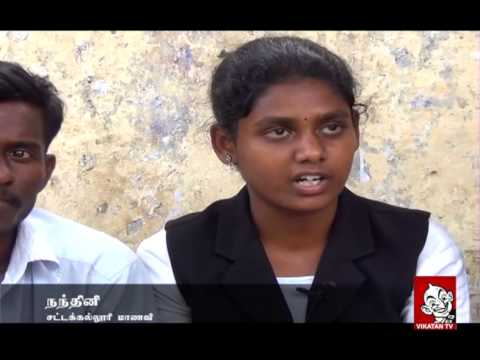 Student Nandhini's Protest for Total Prohibition on Liquor in Tamil Nadu | Vikatan TV