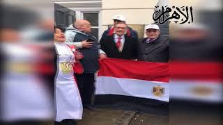 المصريون بلندن وكازاخستان يحتفلون بالإدلاء بأصواتهم في الانتخابات الرئاسية