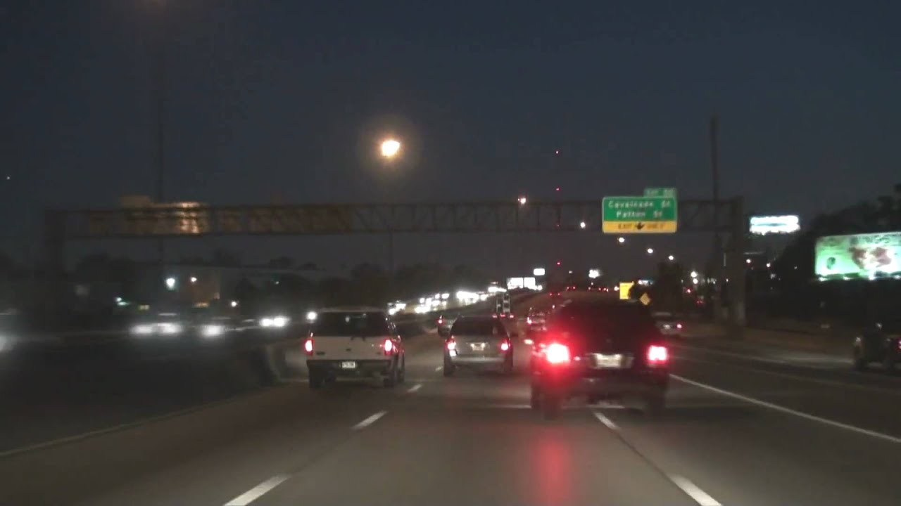 Houston Tx Night Freeway Tour Youtube