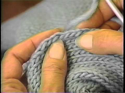 Knitting Pick Up Stitches Along Curved Edge : Sweater Finishing: Pick up and knit along armhole edge - YouTube