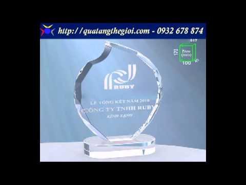 Thiết kế và làm mẫu pha lê, kỷ niệm chương các loại tại xưởng sản xuất pha lê HCM, Call:0932 678 874