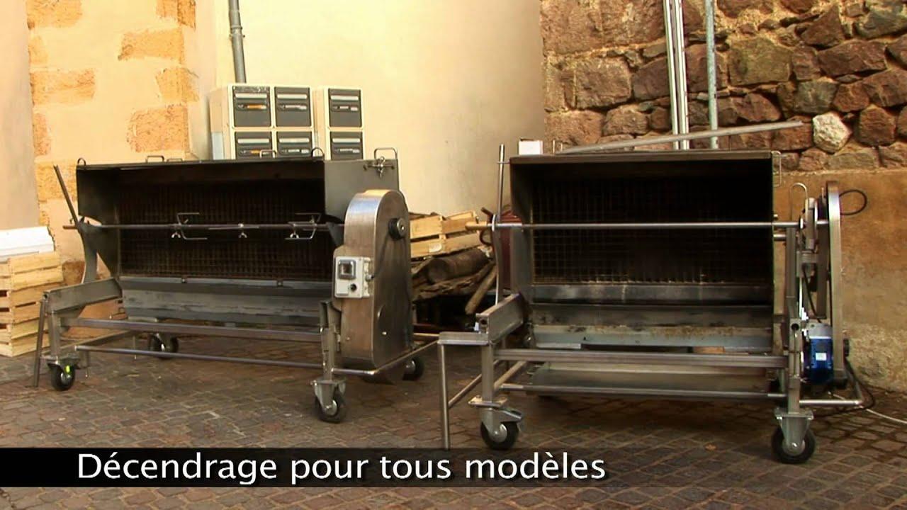 RG feu de bois  Décendrage  YouTube ~ Rotissoire Au Feu De Bois