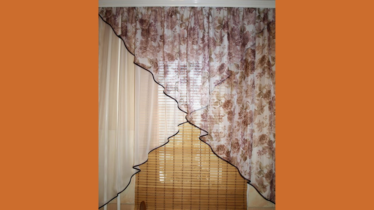 Как сшить края шторы
