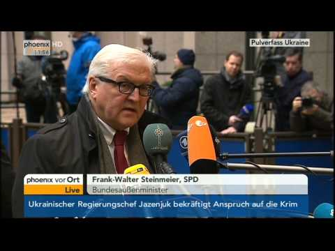 Pulverfass Ukraine - Statement von Frank-Walter Steinmeier am 03.03.2014