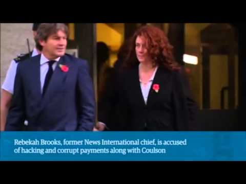 Phone hacking trial: Rebekah Brooks and Andy Coulson leave Old Bailey