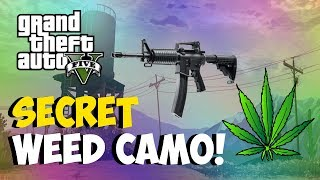 """GTA 5 Online: Secret """"WEED CAMO"""" For Weapons! NEW """"Modded"""
