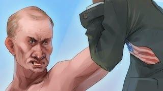 Путин В.В. - кого-то держит)