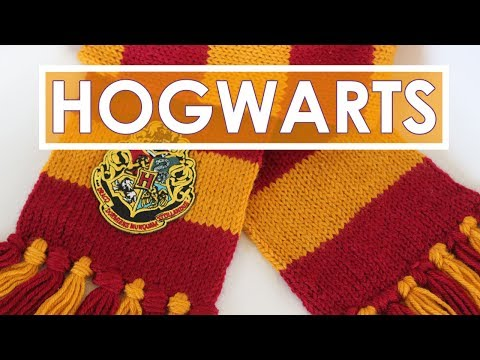How to Knit a SCARF | Harry Potter Hogwarts Gryffindor