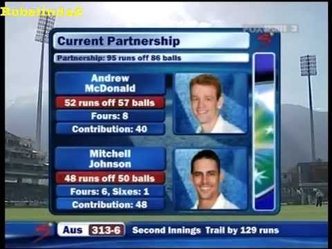 Mitchell Johnson 123* vs South Africa 3rd test 2009