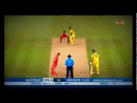 World Record by Aaron Finch (156 runs off 63 balls) - Highest Individual T20I score - Ashes 2013