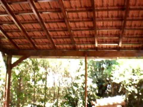 Techo de tejas negras 14 01 10 youtube for Techos de teja para terrazas