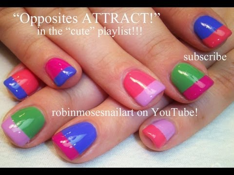 Easy Nail Art - Opposites Attract !!