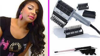 How To Straighten Natural Curly Hair Fast : ConAir Styler